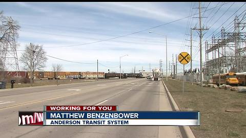 Bus drivers for Anderson Community Schools say stopped trains are delaying buses