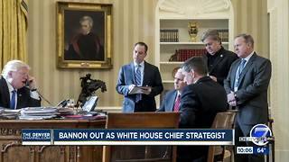 Bannon out as White House chief strategist - Video