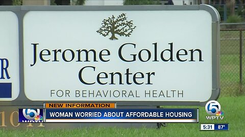 Woman worried about affordable housing