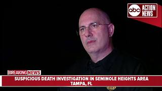 Tampa Police Department investigating suspicious death in Seminole Heights area - Video