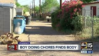 Boy finds body in Phoenix alley, investigation underway - Video