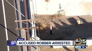 Accused robber arrested - Video