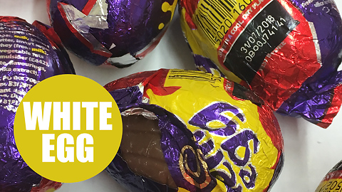 Sneaky shoppers tear open creme eggs in search for £1k white version
