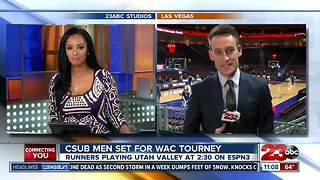 Looking ahead to CSUB's 1st round game in the WAC Tournament - Video