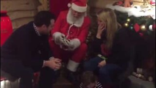 Santa Claus helps out with a marriage proposal