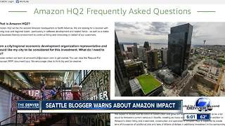 Seattle blogger warns of negative impacts of Amazon's second headquarters - Video
