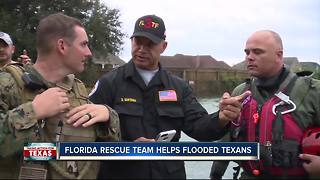 Florida rescue team helps flooded Texans - Video
