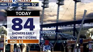 showers today, then hot - Video