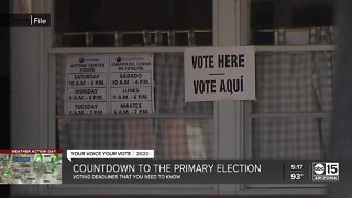 Countdown to the primary election in Arizona