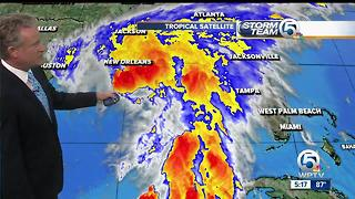 Cindy dumps rain into the Gulf - Video