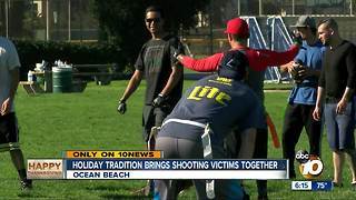 Holiday tradition brings shooting victims together - Video