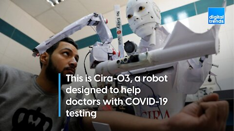 Cira-03 is a COVID testing robot.