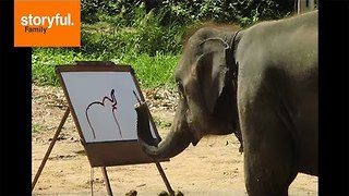 This Elephant is a Really Good Painter - Video