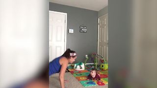 """Baby and Mommy Workout Routine"""