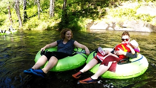 Wilderness river tubing ride is like stepping back in time! - Video