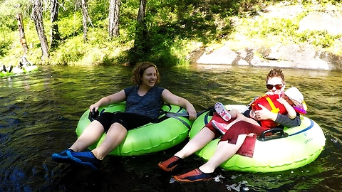 Wilderness river tubing ride is like stepping back in time!