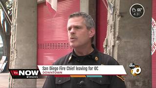 San Diego City Fire Chief leaving for OC - Video