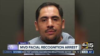 MVD facial recognition helps make arrest