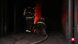Inside a Firemen's Live Fire Training | Rare News - Video