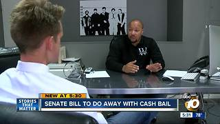 Bill to eliminate money bail waiting for Governor Brown's signature
