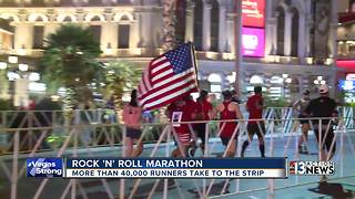 Runners 'Vegas Strong' as they complete Rock 'N' Roll Marathon - Video