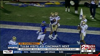 Tulsa Football faces 3rd Top-25 team this season when the Golden Hurricane visit #21 Cincinnati