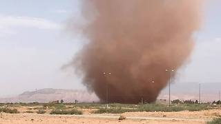 Dust Devil Seen Swirling South of Marrakesh - Video