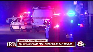 Person shot, killed on Indianapolis' east side on South Catherwood Avenue - Video