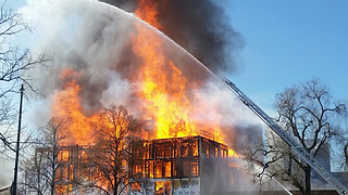 News conference on Denver construction site fire - Video