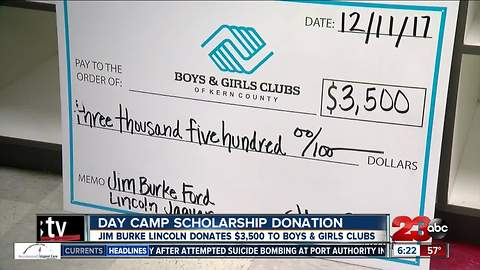 Jim Burke Lincoln donates $3500 to Boys and Girls Clubs of Kern County