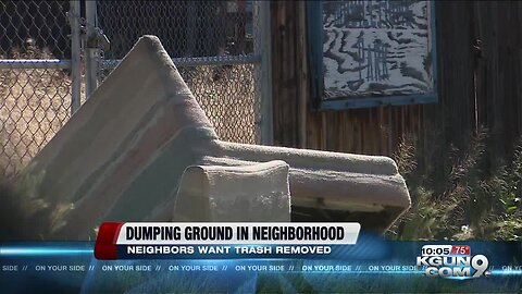 Empty lot in neighborhood becomes a dumping ground