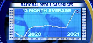Report: Gas prices climbing in spring summer months