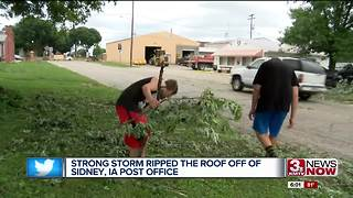 Sidney, Iowa, residents recover from Monday night storms - Video