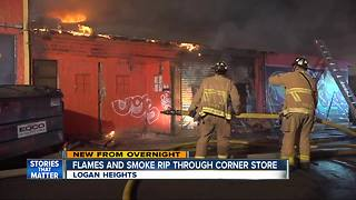 Fire rips through Logan Heights store - Video