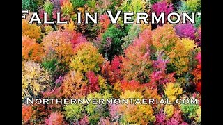 Drone Captures Beautiful View of Vermont During Autumn Foliage
