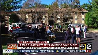 Baltimore Co. Fire Department make a rescue in Cockeysville apartment - Video