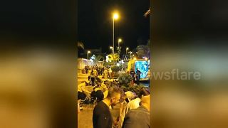 Tenerife nightclub dancefloor collapses injuring dozens - Video