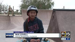 Small Stars: Skate boarding phenom Mia Lovell - Video