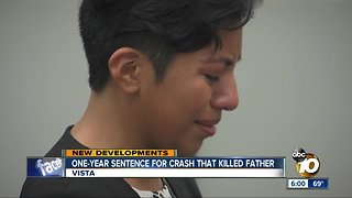One-year sentence for Fallbrook crash that killed father