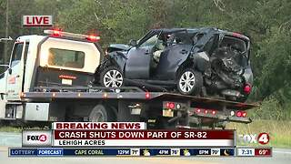 Crash shuts down S.R. 82 in Lehigh Acres - Video