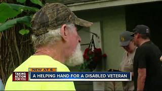 Help for disabled veteran - Video
