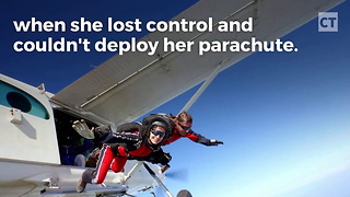 Skydiving Instructor Saves Student's Life - Video