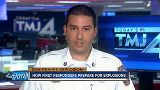 How first responders prepare for explosions
