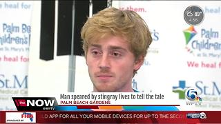 Man speared by stingray tells his story