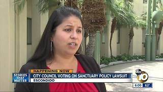 Escondido City Council voting on sanctuary policy lawsuit - Video