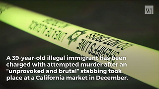 After Being Deported 7 Times, Illegal Returns to US, Stabs 61-Year-Old Stranger in Neck - Video