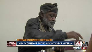 Men accused of taking advantage of veteran - Video