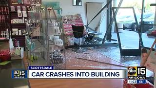 Car crashes into Scottsdale business - Video