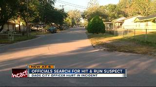 Search for suspect that hit Dade City police officer - Video