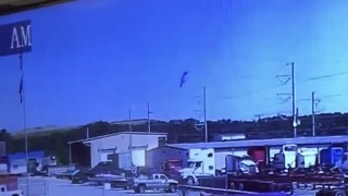 Military Aircraft Nose Dives Into Horizon and Explodes Outside Savannah Airport - Video